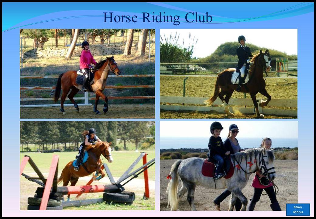Horse Riding Club Main Menu