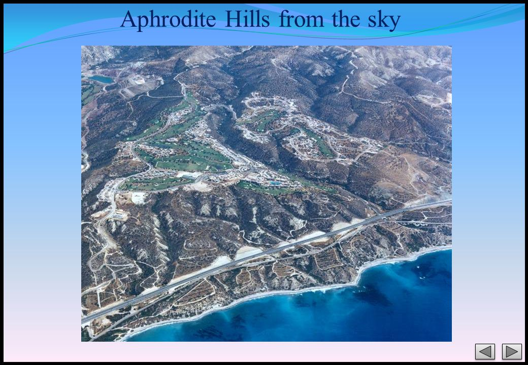 Aphrodite Hills from the sky