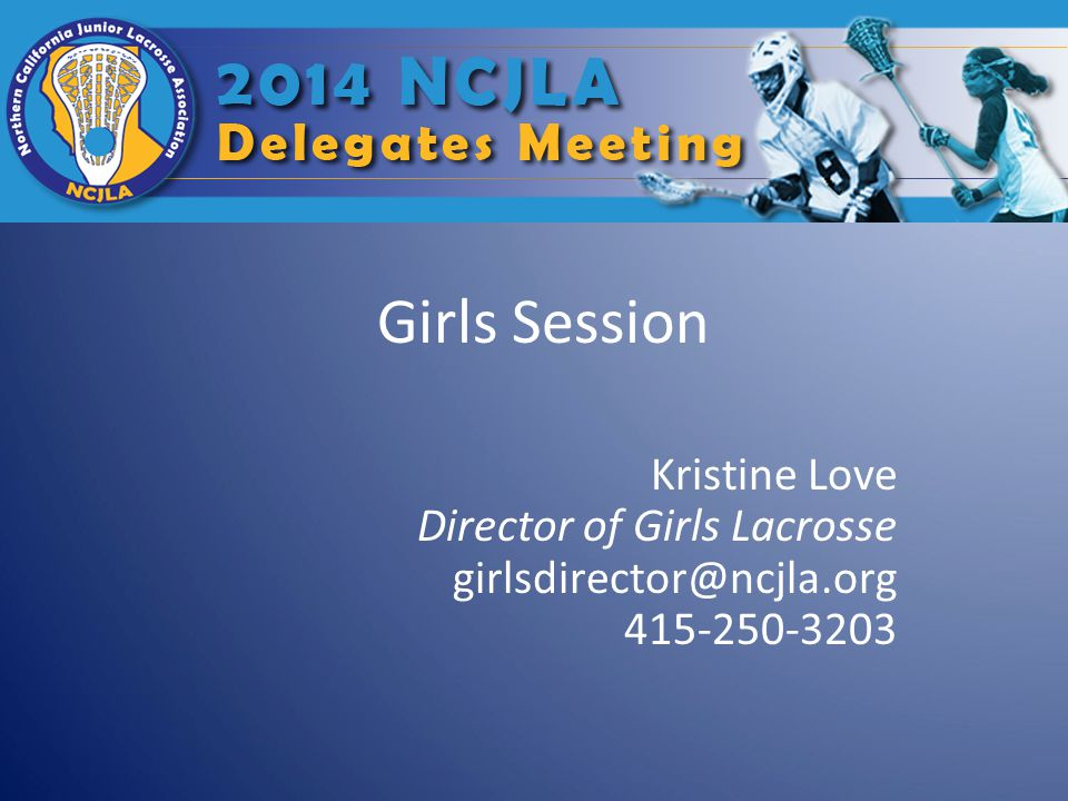 About Me… This will be my sixth year as Girls Director for the NCJLA.