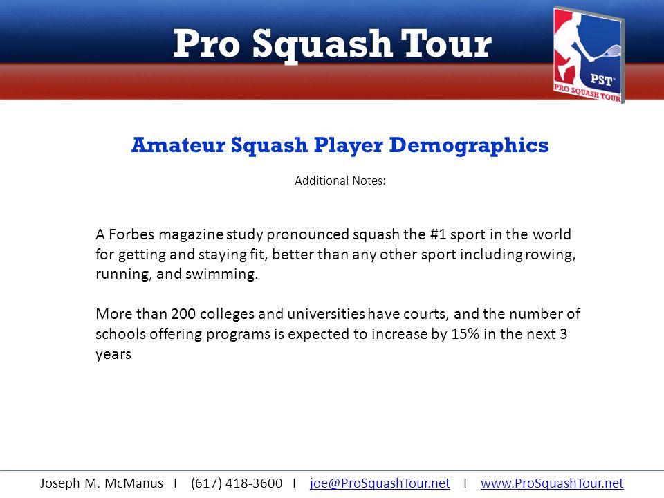 Pro Squash Tour Joseph M.