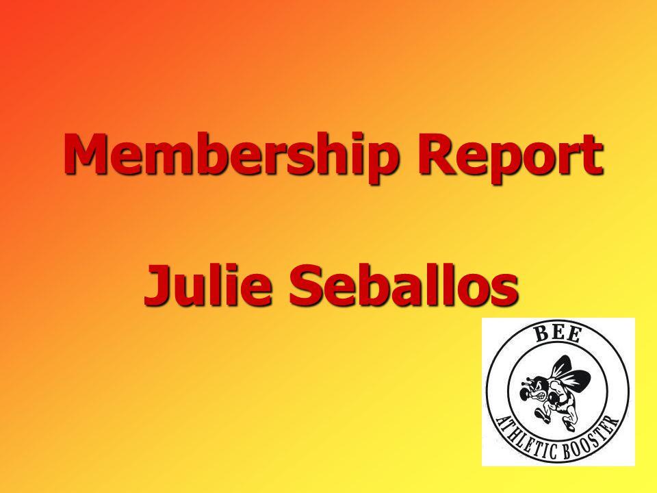Membership Report Julie Seballos