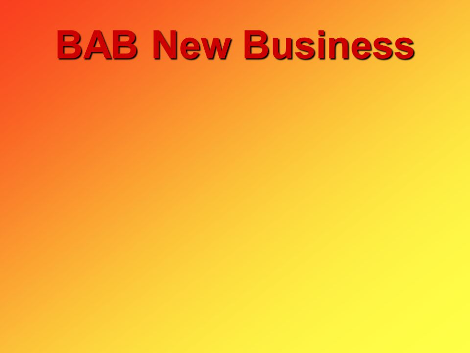 BAB New Business