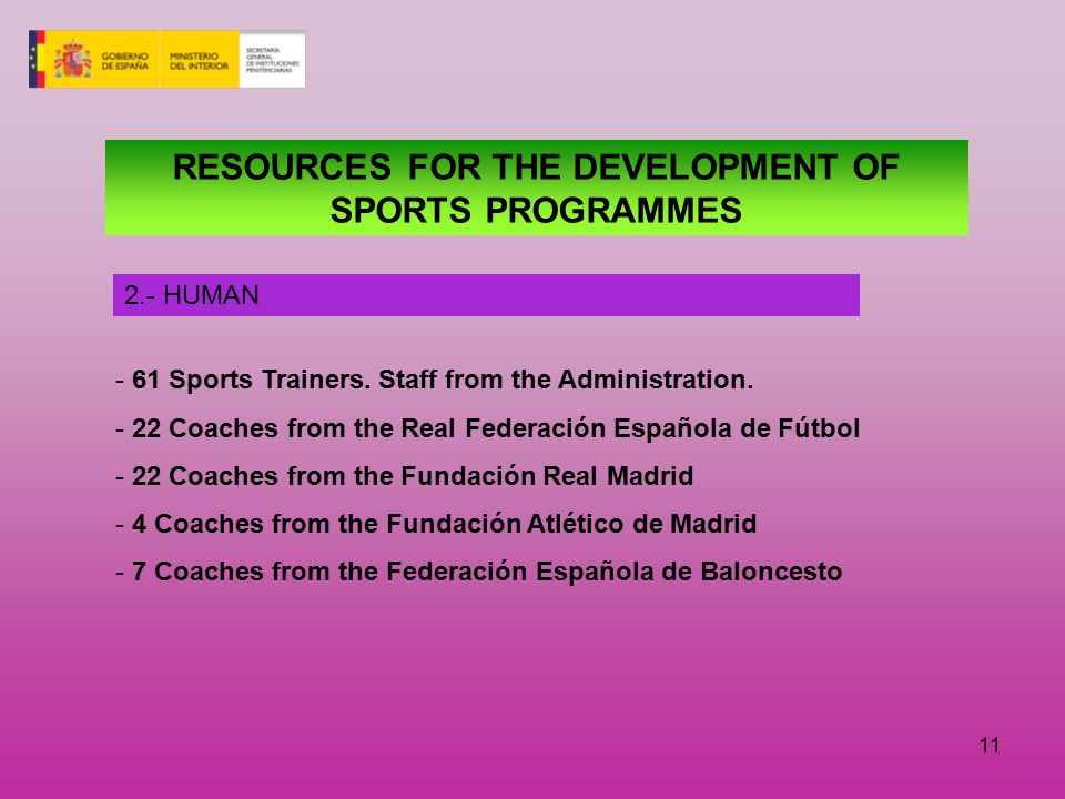 11 - 61 Sports Trainers.Staff from the Administration.