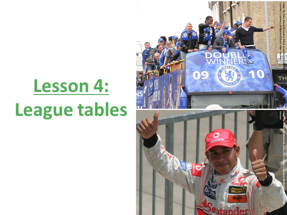 © Nuffield Foundation 2010 Lesson 4: League tables Image by Brian Minkoff London Pixels reproduced under theCreative Commons Attribution/Share-Alike License