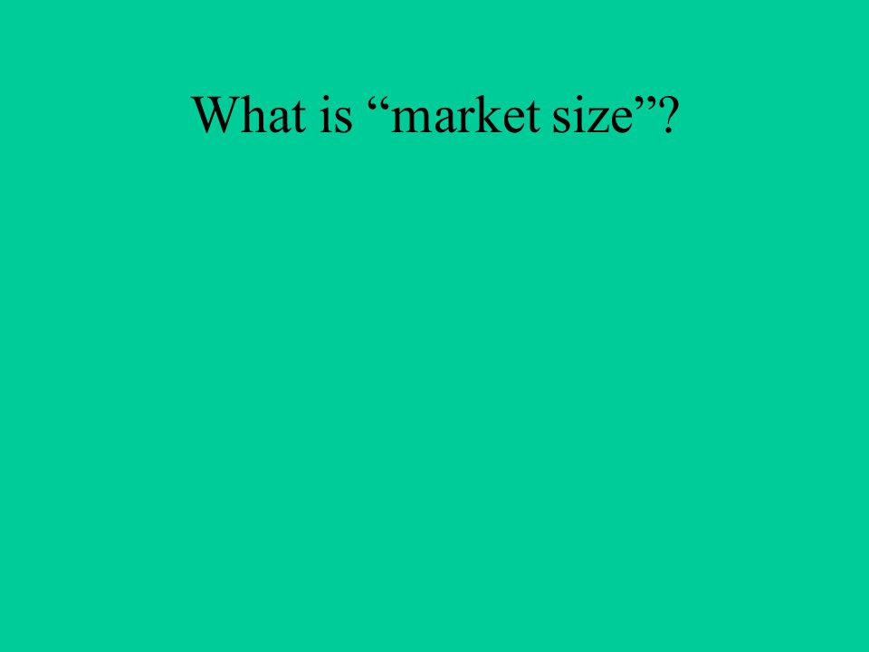 What is market size ?