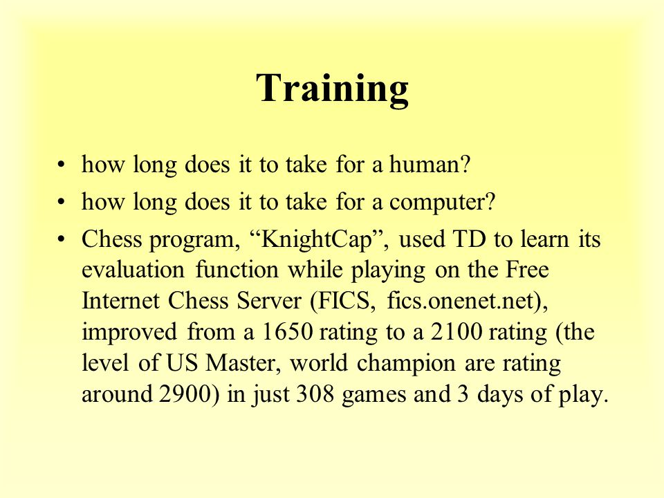 Training how long does it to take for a human. how long does it to take for a computer.