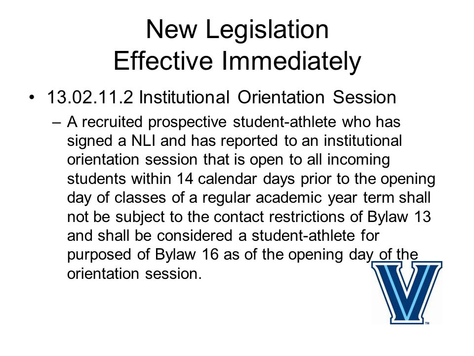 New Legislation Effective Immediately 13.2.8 Medical Expenses- –In sports other than Football, an institution may finance medical expenses for a PSA who sustains an injury while participating in voluntary summer workouts conducted by an institution's strength and conditional coach with department wide duties.