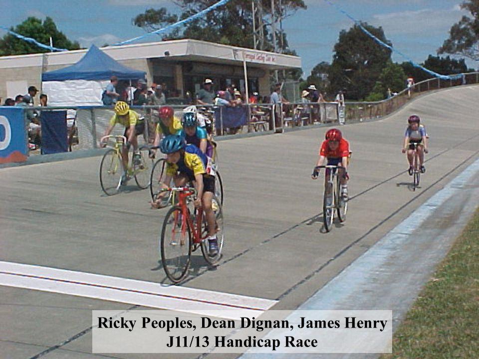 Ricky Peoples, Dean Dignan, James Henry J11/13 Handicap Race