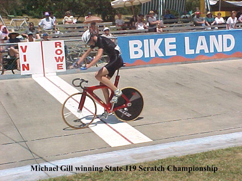 Michael Gill winning State J19 Scratch Championship