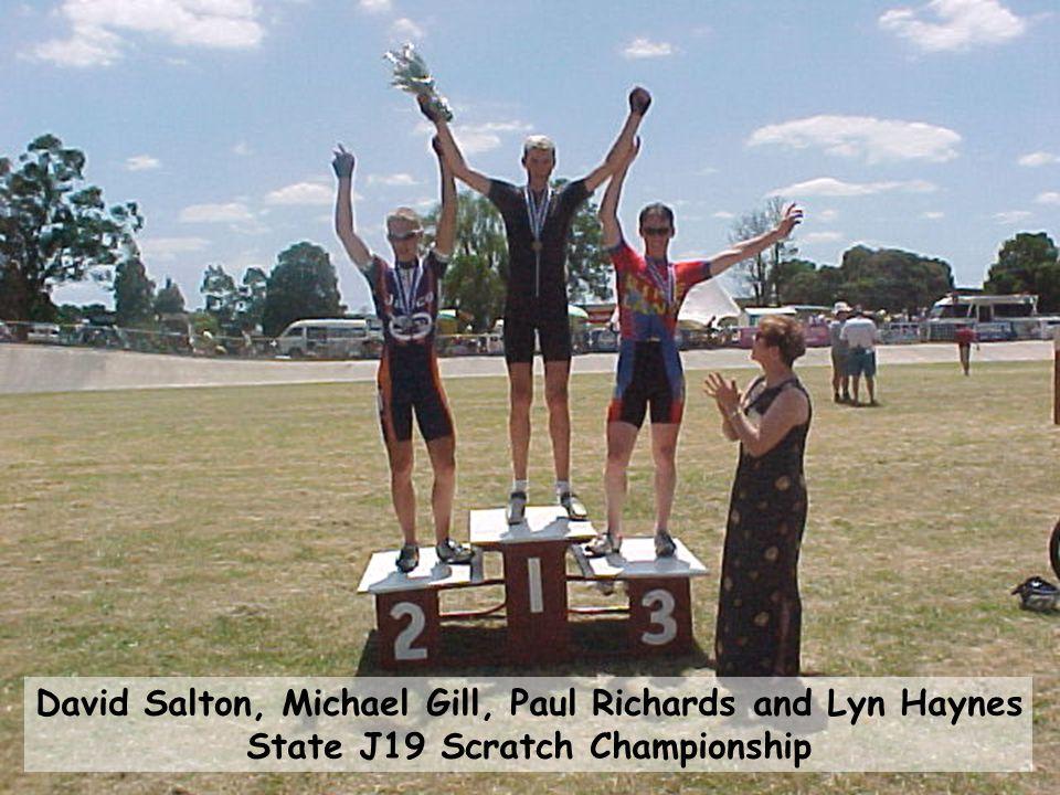 David Salton, Michael Gill, Paul Richards and Lyn Haynes State J19 Scratch Championship