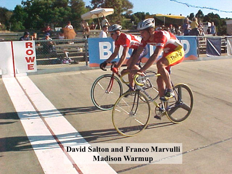 David Salton and Franco Marvulli Madison Warmup