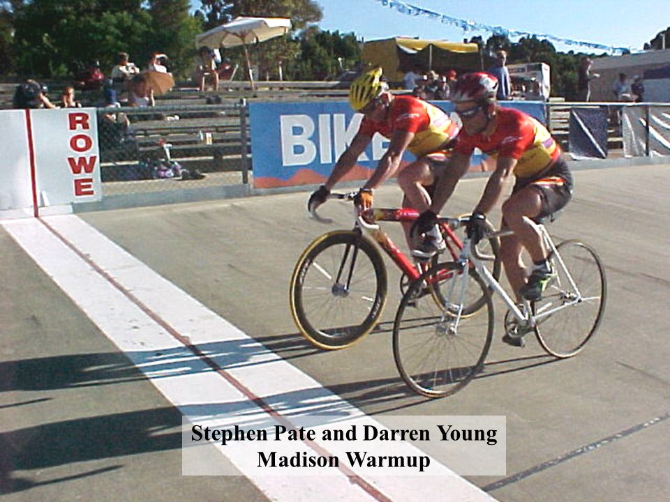 Stephen Pate and Darren Young Madison Warmup