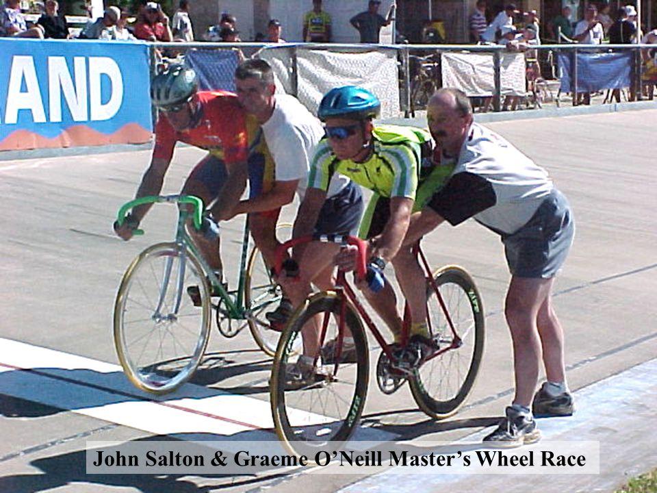 John Salton & Graeme O'Neill Master's Wheel Race