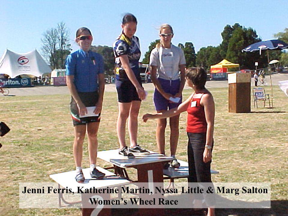 Jenni Ferris, Katherine Martin, Nyssa Little & Marg Salton Women's Wheel Race