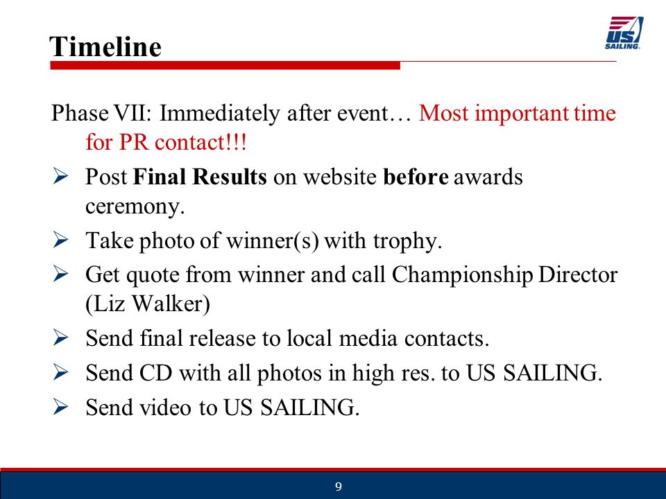 Important Notes to Remember  This is outstanding exposure for you yacht clubs.