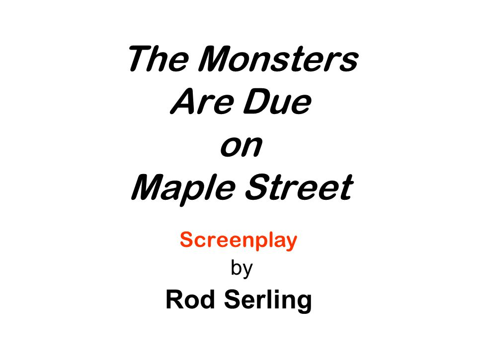 Screenplay/ Teleplay Play written for television.