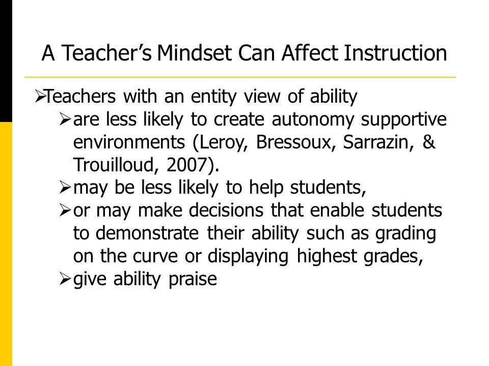  Few studies have investigated inservice or preservice teachers' intelligence beliefs (Dweck & Master, 2005; Jones, Bryant, Snyder, & Malone, 2011).