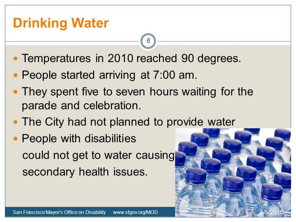 Drinking Water Temperatures in 2010 reached 90 degrees.