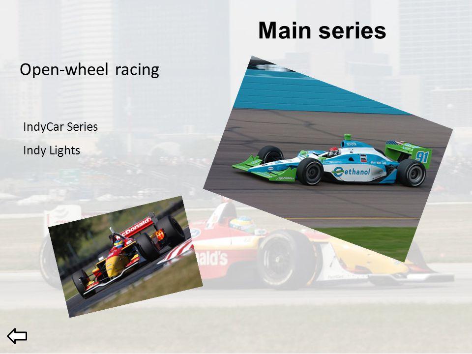 Main series Open-wheel racing IndyCar Series Indy Lights