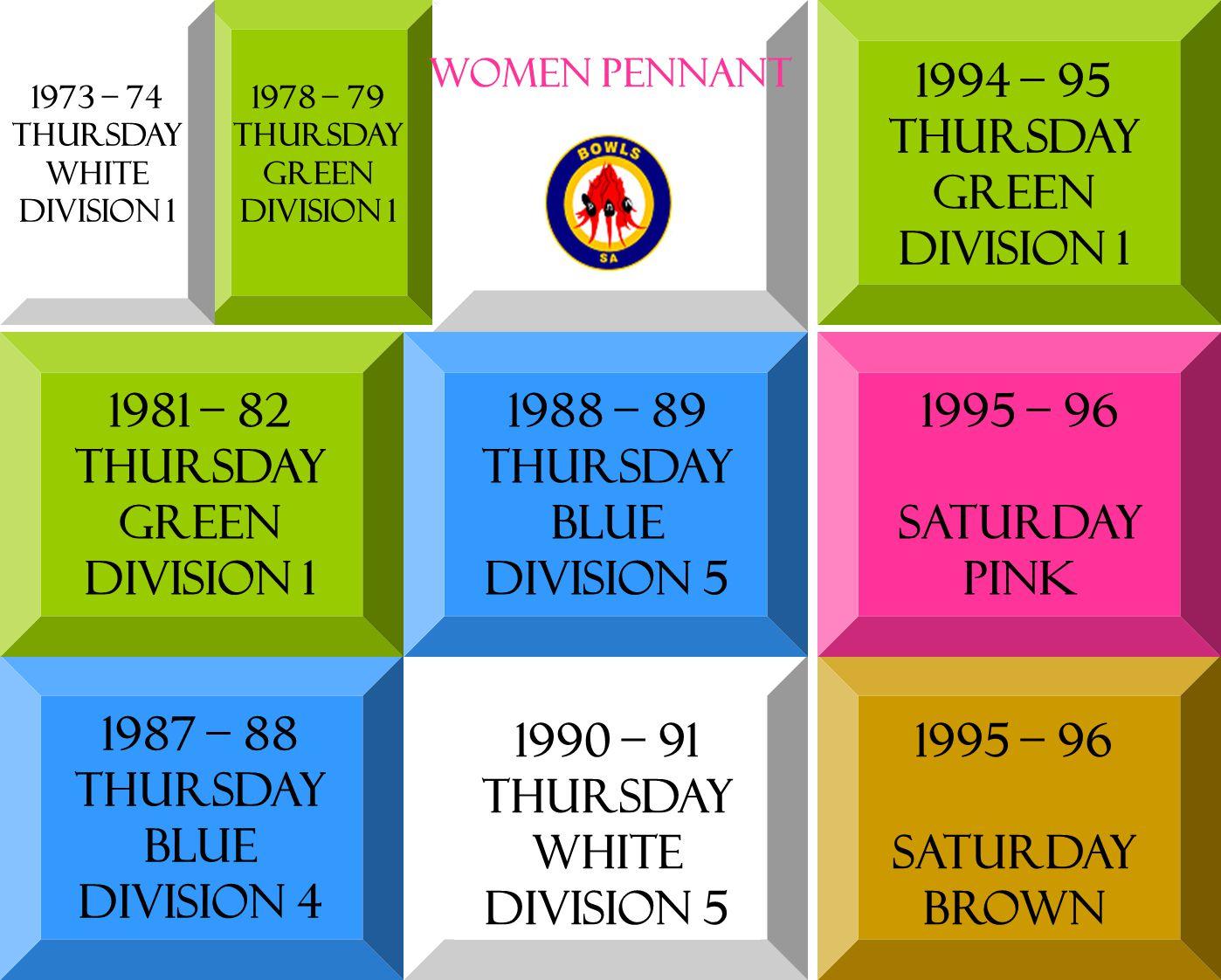 1978 – 79 Thursday green DIVISION 1 1981 – 82 Thursday green DIVISION 1 1987 – 88 Thursday blue DIVISION 4 1988 – 89 Thursday blue DIVISION 5 1990 – 9