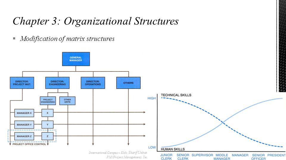  Modification of matrix structures International Campus – Kish, Sharif University of Technology PM (Project Management), Session#5 28