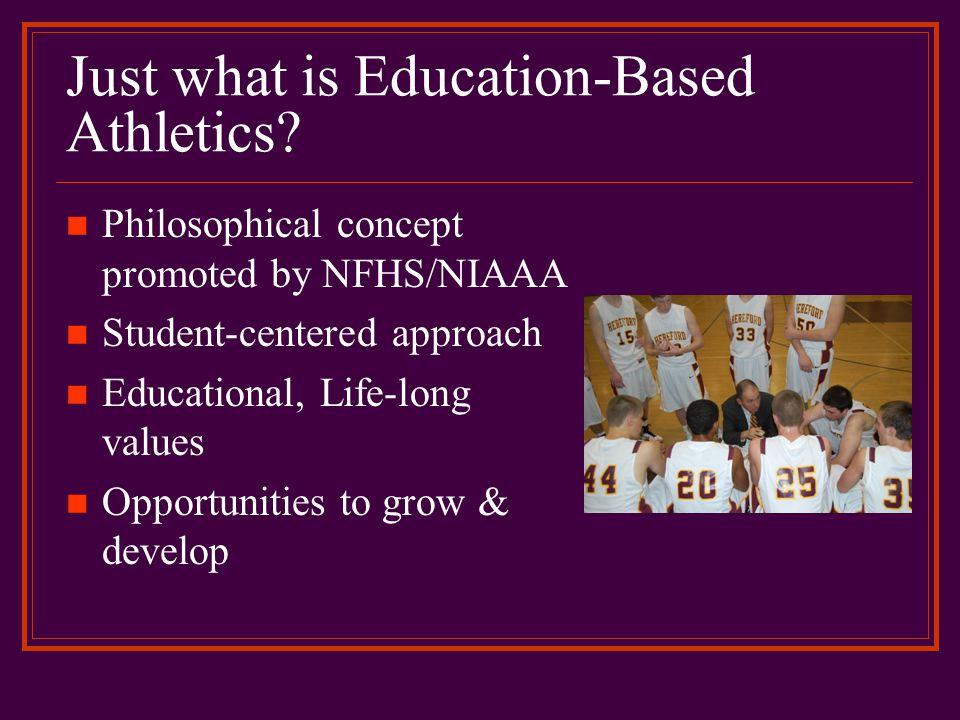 School or Athletic Department Mission Statement What is stated in your document.
