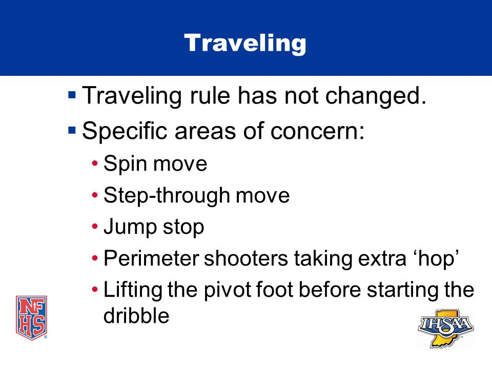 Traveling  Traveling rule has not changed.