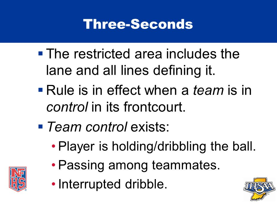 Three-Seconds  The restricted area includes the lane and all lines defining it.