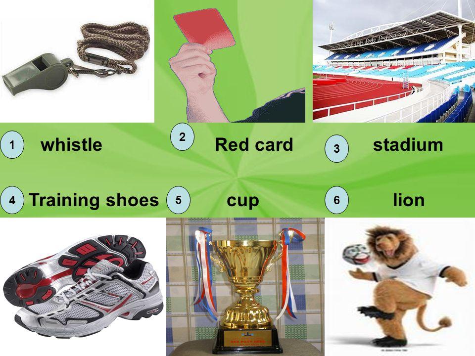 1 2 3 456 whistleRed cardstadium Training shoescuplion