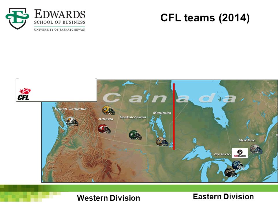Western Division Eastern Division CFL teams (2014)