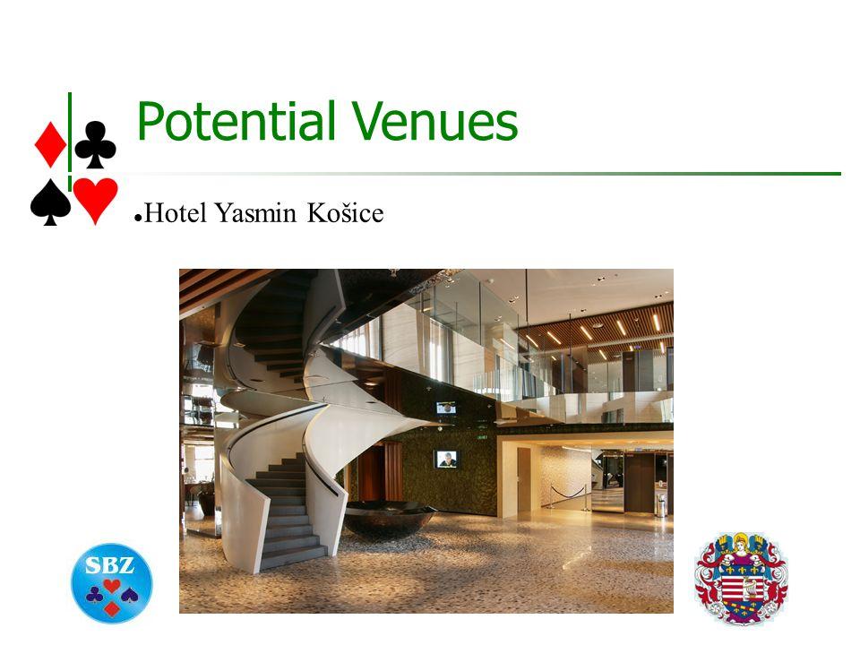 Potential Venues Hotel Yasmin Košice