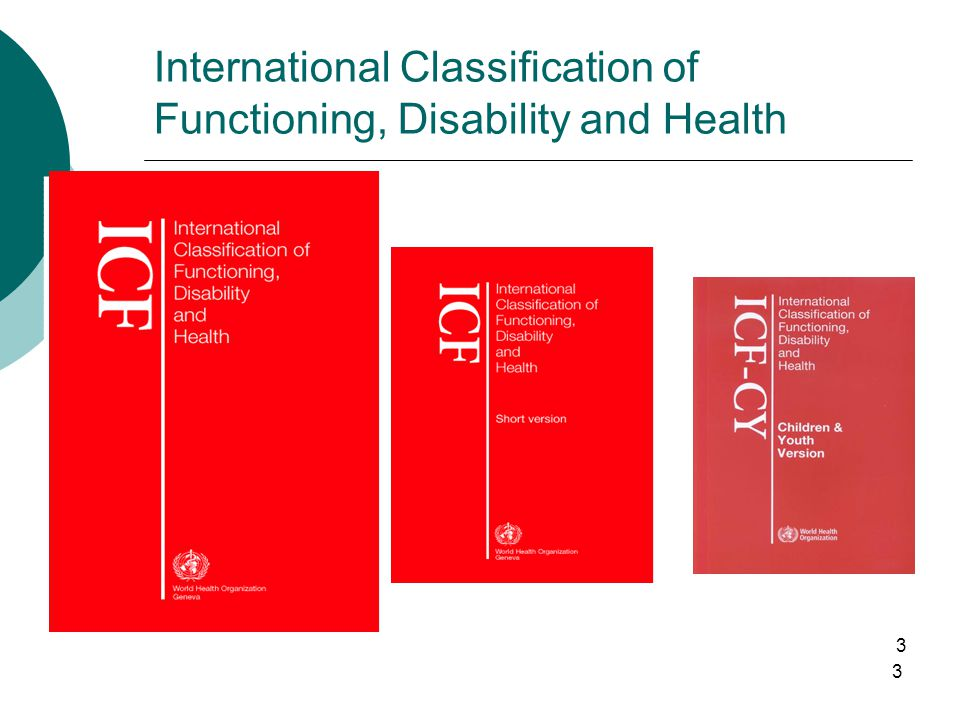 3 3 International Classification of Functioning, Disability and Health
