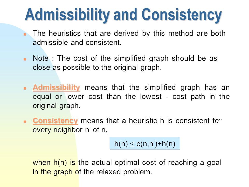n Now in order to construct a simplified or relaxed problem we only have to remove some of the preconditions.