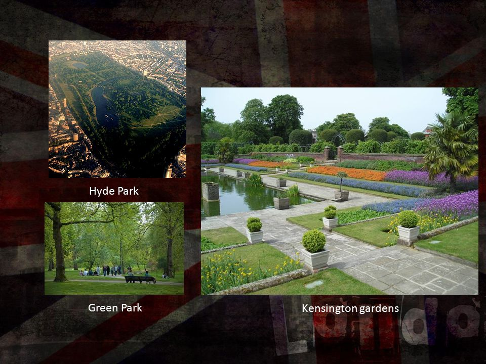 Hyde Park Kensington gardens Green Park