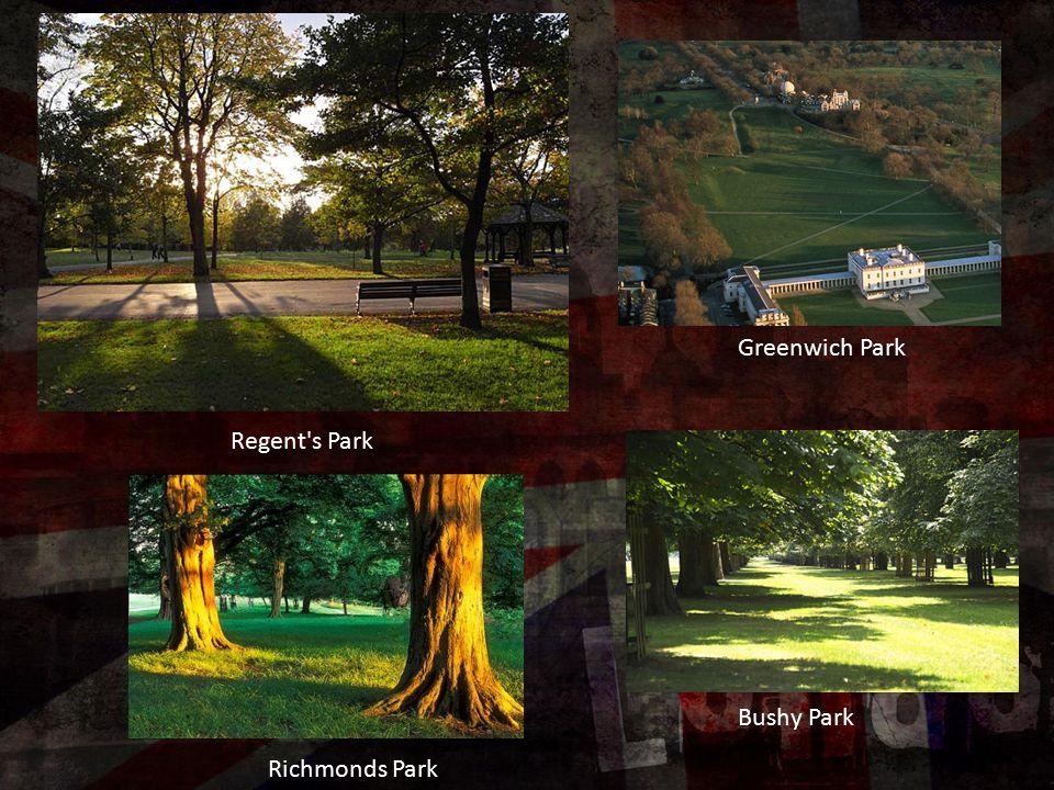 Regent's Park Greenwich Park Bushy Park Richmonds Park