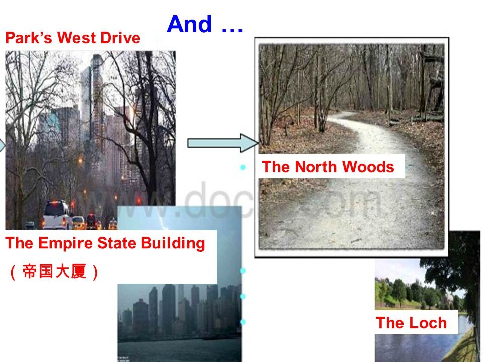 Park's West Drive The North Woods The Loch The Empire State Building (帝国大厦) And …