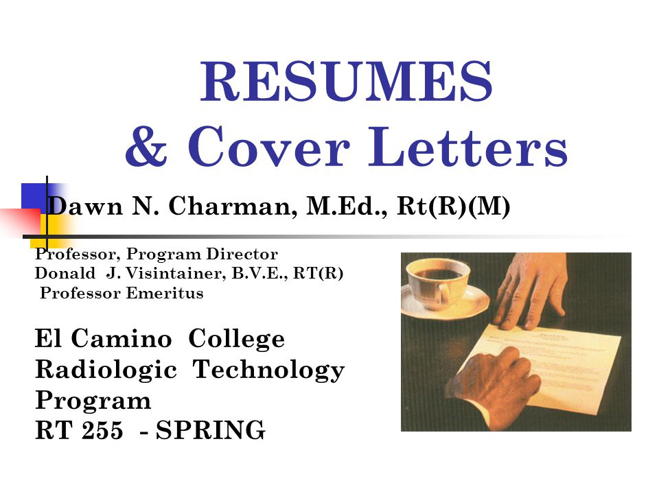 Cover Letter Develop cover letters that are centered on the needs of the employer and the position.