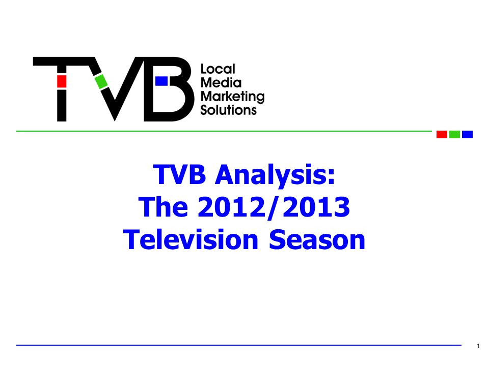 TVB Analysis: The 2012/2013 Television Season 1