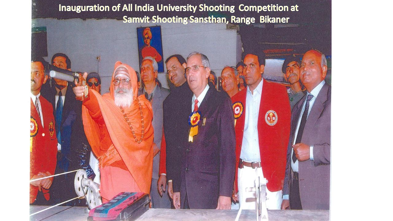A view of Competition in Samvit Shooting Sansthan, Bikaner during Competition