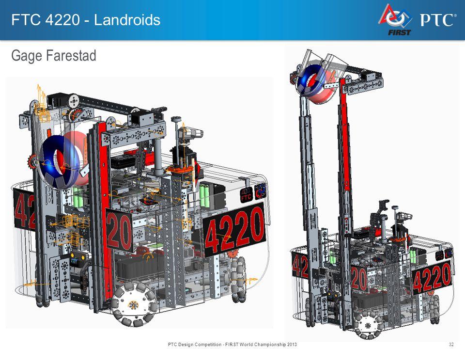 32 FTC 4220 - Landroids Gage Farestad PTC Design Competition - FIRST World Championship 2013