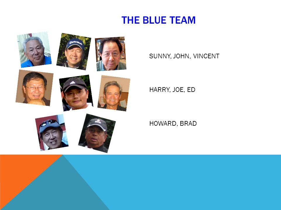 THE BLUE TEAM SUNNY, JOHN, VINCENT HARRY, JOE, ED HOWARD, BRAD