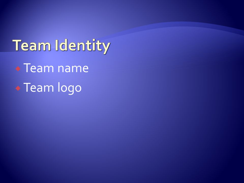  Team name  Team logo