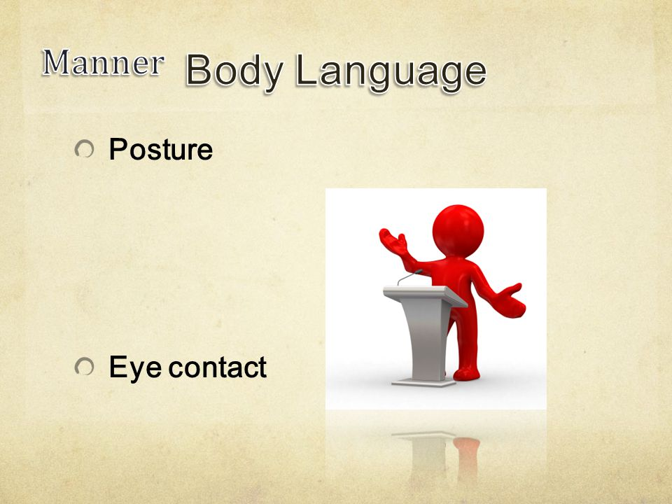 Posture Eye contact