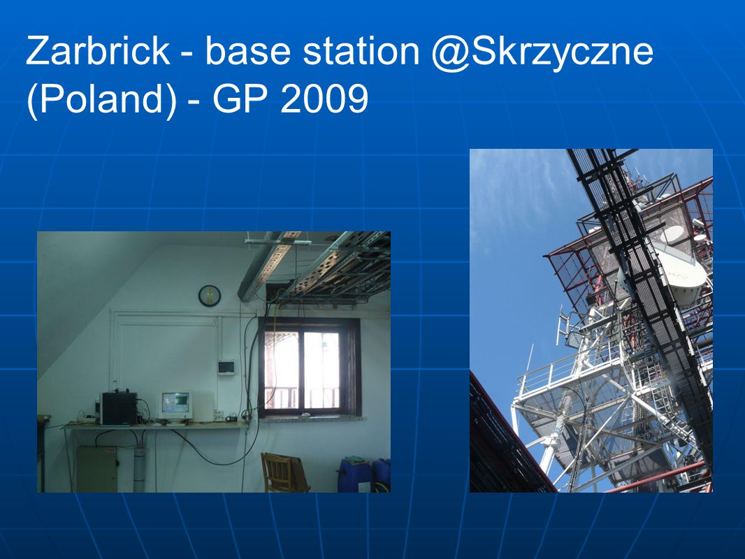 Solutions based on APRS - OpenGlide® (2012- France, Switzerland, Poland)  no need to build own emitters – they are already there.
