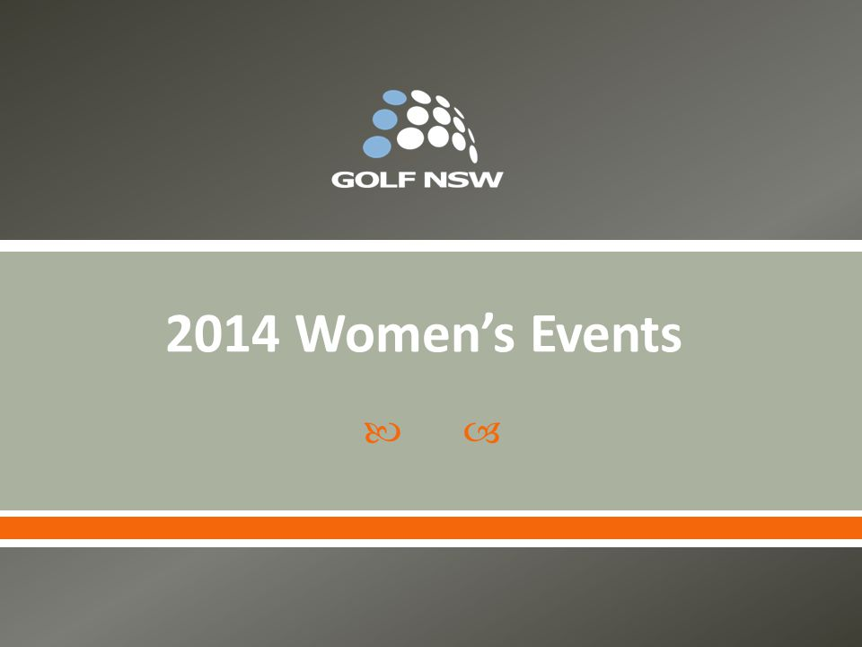 2014 Women's Events