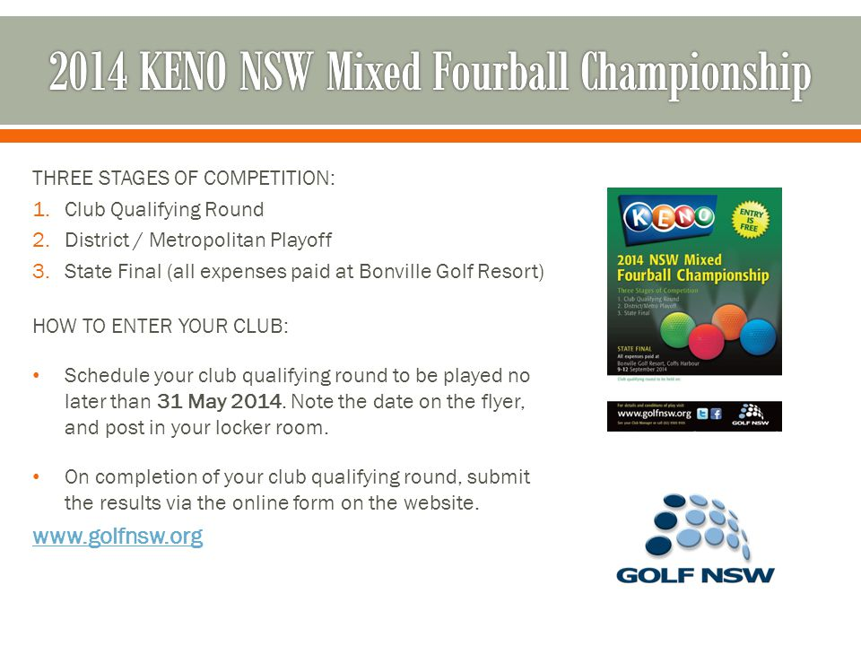 The Women's NSW Bowl is a special annual competition, to support the Women's NSW Open.