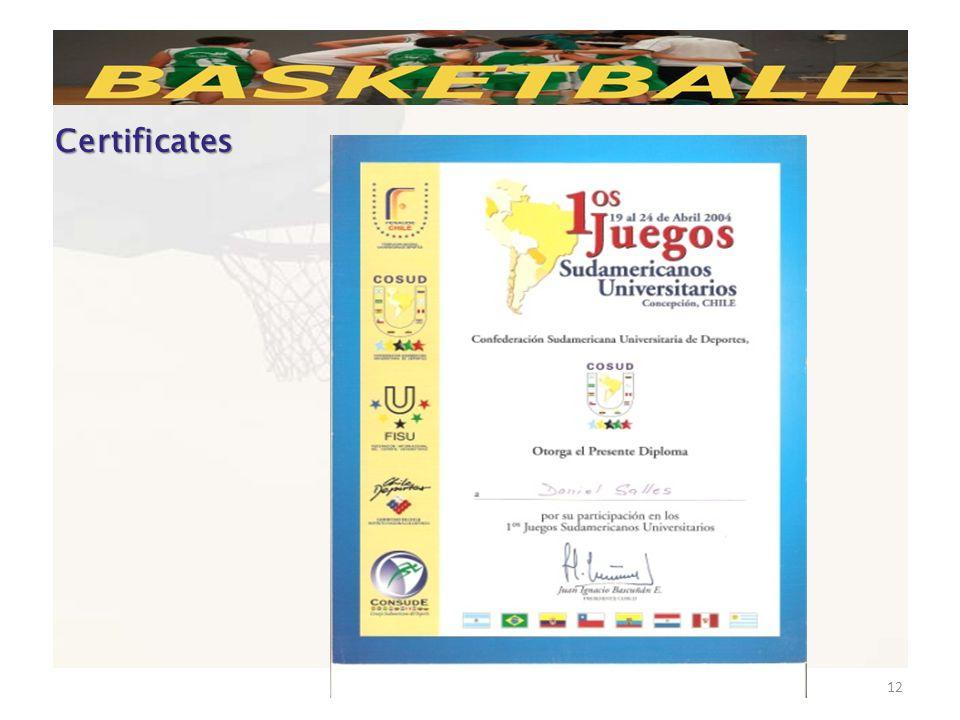 November, 22th 200912 Certificates