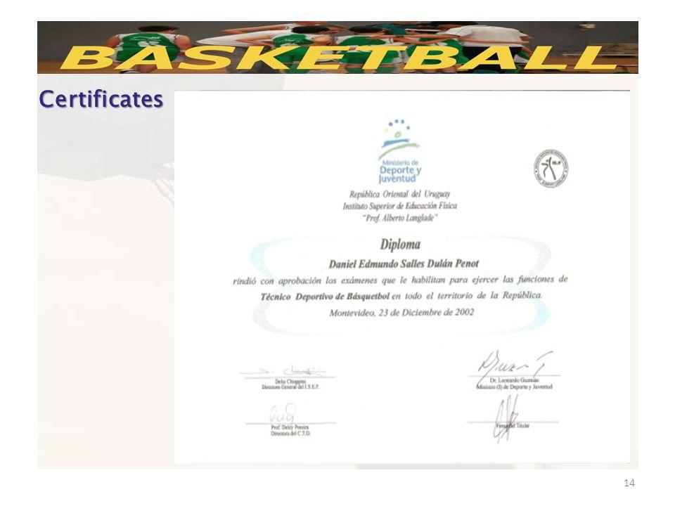 14 Certificates