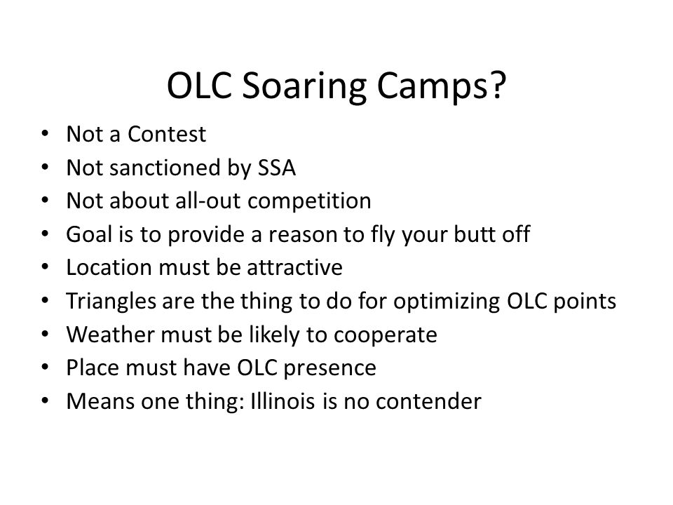 OLC Soaring Camps.