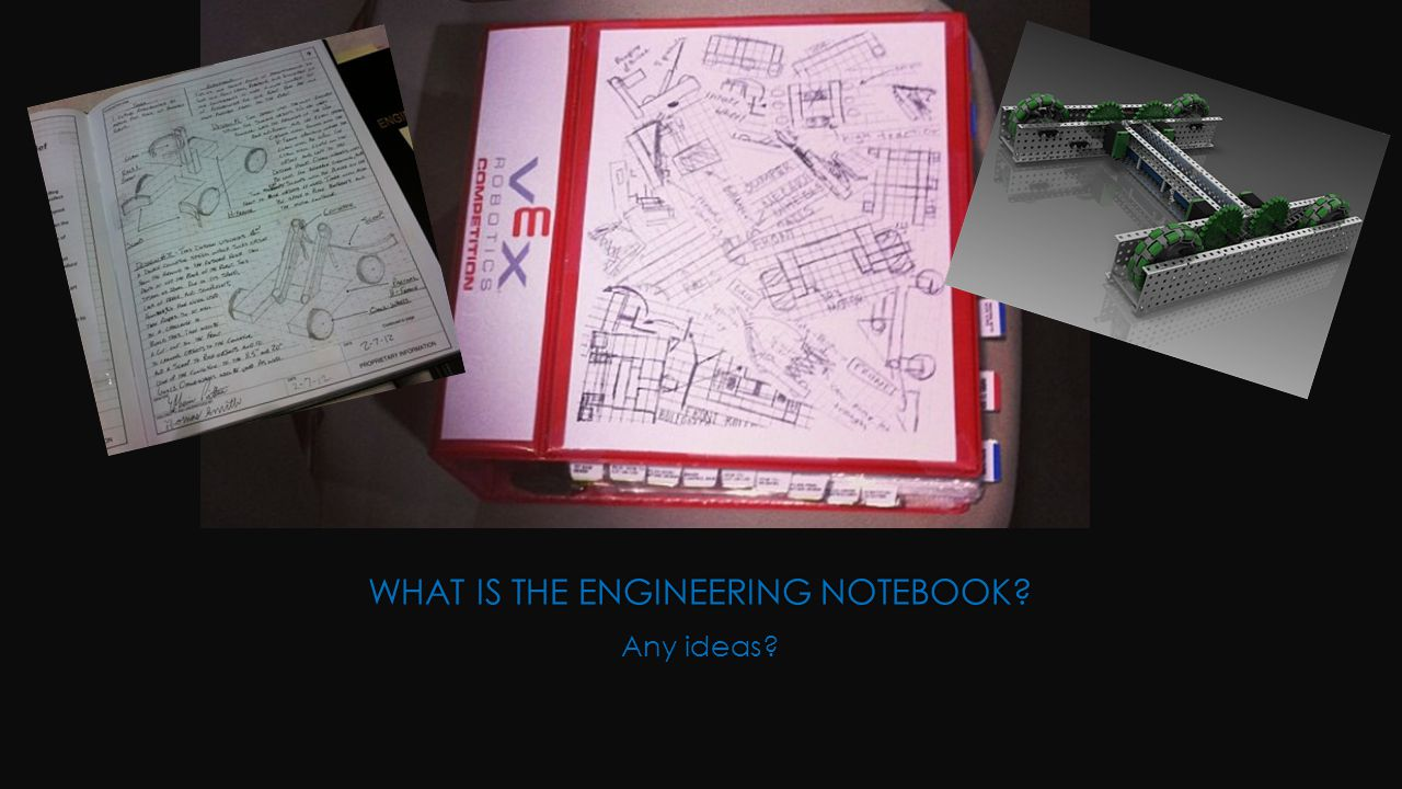 WHAT IS THE ENGINEERING NOTEBOOK Any ideas
